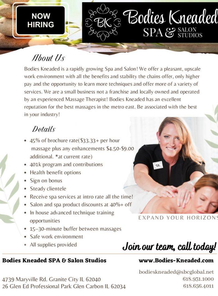 massage recruit flyer mailer 8.2021